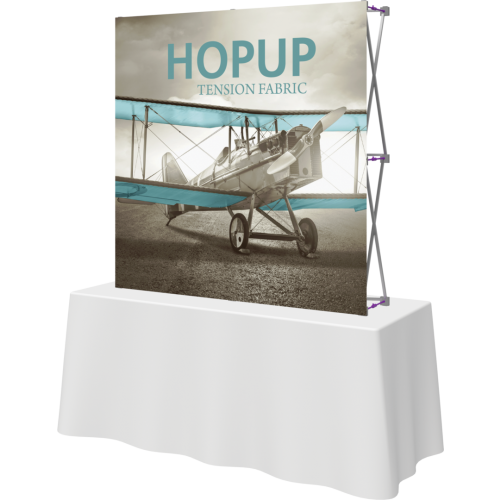 Hopup 5ft Straight Square Tabletop Tension Fabric Display